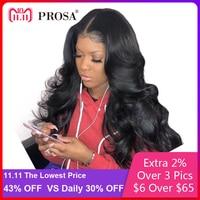 Синтетические волосы на кружеве натуральные волосы парики для женский, Черный тела волна 13X4 кружева парик предварительно сорвал 250 плотнос