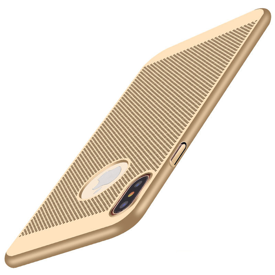 New-For-Apple-iPhone-8-Case-Honeycomb-PC-Matte-Back-Cover-Heat-Dissipation-Cooling-Housing-For (3)