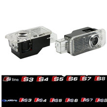 LED Car Door Light Laser For Audi Logo Projector A4 A3 A1 A5 A6 C6 A8 B6 B7 B8 B5 C5 C7 80 A7 Quattro Q3 Q5 Q7 TT