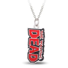 HSIC 10pcs/lot Wholesale Movie Jewelry The Walking Dead Words Pendant Necklace For Fans Men Women Jewelry HC101