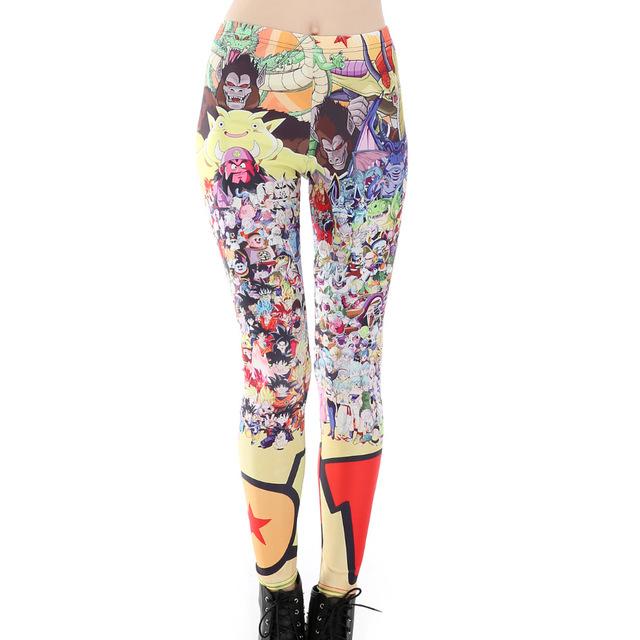 Dragon Ball Girls Printing Leggings For DBZ Lovers