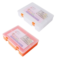Double Layer Clear Plastic Container Toolbox Electronic Parts Box Storage Case