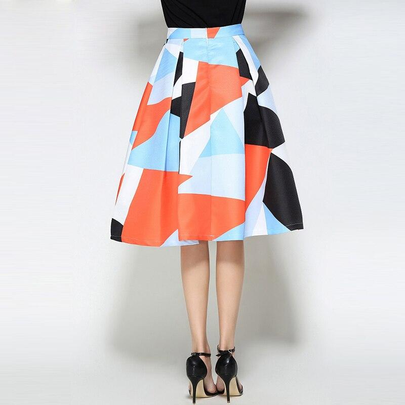 Willstage žene Midi suknja s printom patchwork haljina šarene - Ženska odjeća - Foto 3