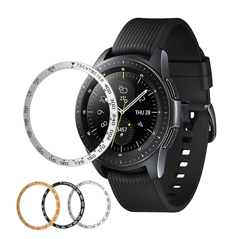 42MM/46MM Anti Scratch Metal Bezel Ring Adhesive Cover Replacement For Samsung Galaxy Smart Watch Accessories