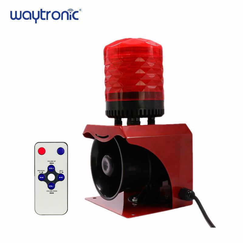 12V 24V 220V Промышленный рожок сирены аварийный звуковой и светильник сигнализации красный светодиодный вспышка стробоскоп Предупреждение светильник с пультом дистанционного управления Управление