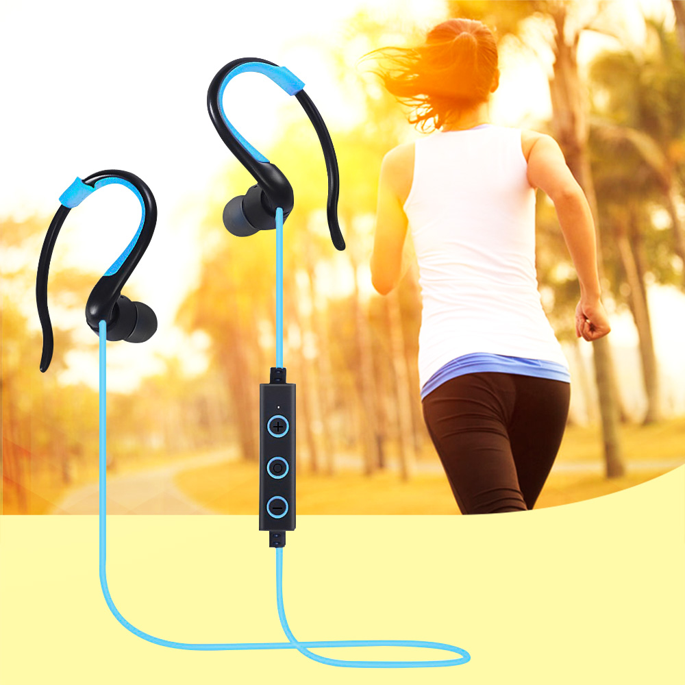Sports Stereo Wireless Bluetooth Earphone Headphones With Mic Noise Cancelling Running Headset Cordless Earpiece for Phone a01 bluetooth headset v4 1 wireless headphones noise cancelling with mic handsfree earpiece for driving ios android