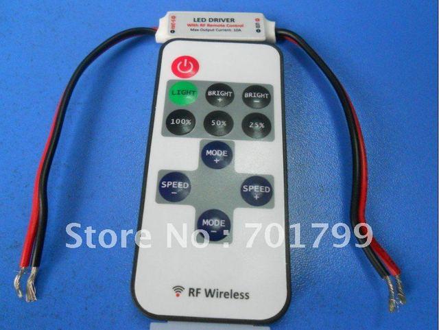 smart led RF dimmer,DC5-24V input,max 10A*1 channel output;for single color led strip