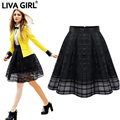 New Women's Adult Tulle Tutu Flared Chiffon Skirt Plus Size Black Pleated Gauze Poncho Lattice European Root Yarn Puffy Skirts