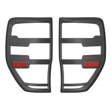 フォードレンジャーアクセサリー 2012 2019 T6 T7 T8 wildtrak ラプターテールライトカバー黒レザーカバーマット外装リアランプフードアクセサリー