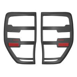 Dla Ford Ranger akcesoria 2012-2019 T6 T7 T8 Wildtrak Raptor osłona tylnego światła czarny matowy zewnętrzna tylna lampa okapy akcesoria