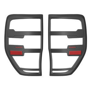 Image 1 - For Ford Ranger Accessories 2012 2019 T6 T7 T8 Wildtrak Raptor Tail Light Cover Black Matte Exterior Rear Lamp Hoods Accessory