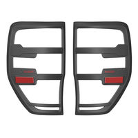 For Ford Ranger Accessories 2012 2019 T6 T7 T8 Wildtrak Raptor Tail Light Cover Black Matte Exterior Rear Lamp Hoods Accessory