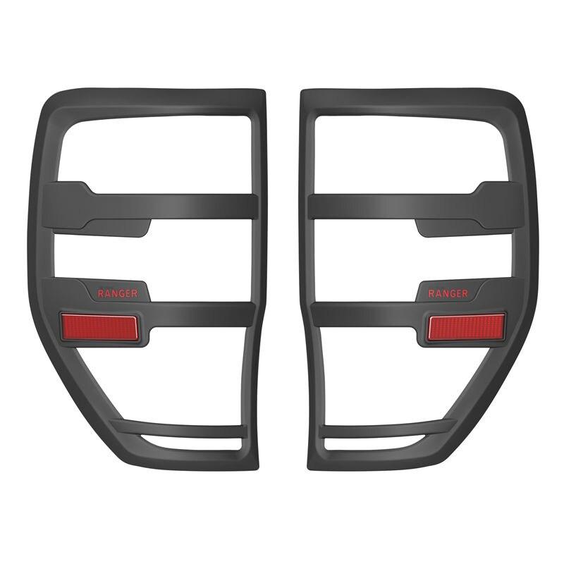 Pour Ford Ranger Accessoires 2012-2019 T6 T7 T8 Wildtrak Rapace Queue cache éclairage Noir Mat Extérieur feu arrière Hottes Accessoire