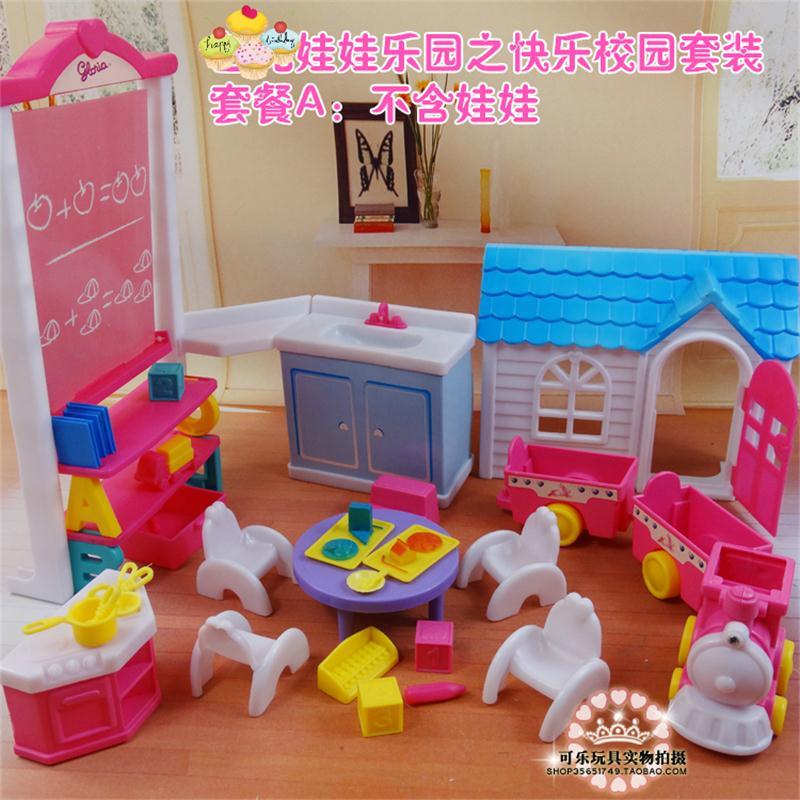 Untuk Boneka Barbie Aksesoris Perabot Mainan Bahagia Sekolah Kampus Papan Tulis Rumah Buku Meja Kursi Kue Kereta Hadiah Gadis Diy Aliexpress