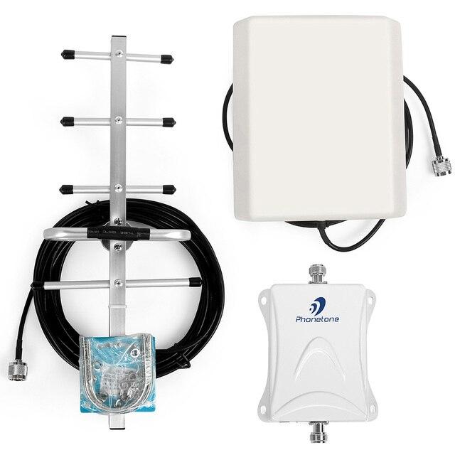 GSM Репитер 850 МГц Сотовый Телефон Сигнал Booster Усилитель + 2 Антенны Бесплатная доставка