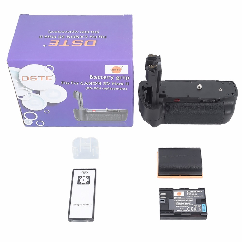 DSTE BG E6H Battery Grip 2x LP E6 For CANON 5D Mark II 5D2 font b