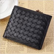 Sheepskin man wallet Genuine Leather Soft & High quality Short purse Black and Navy Blue