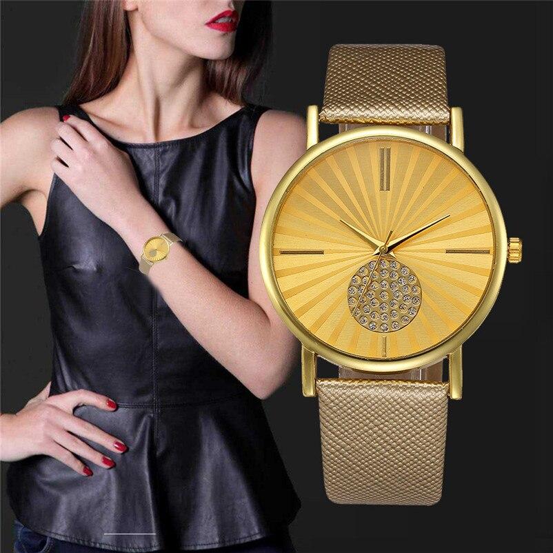 brand fashion Women watch clock Retro Digital Dial Leather Band Quartz Analog saat Wrist Watch Watches gift reloj hombre retro digital flip page gear clock