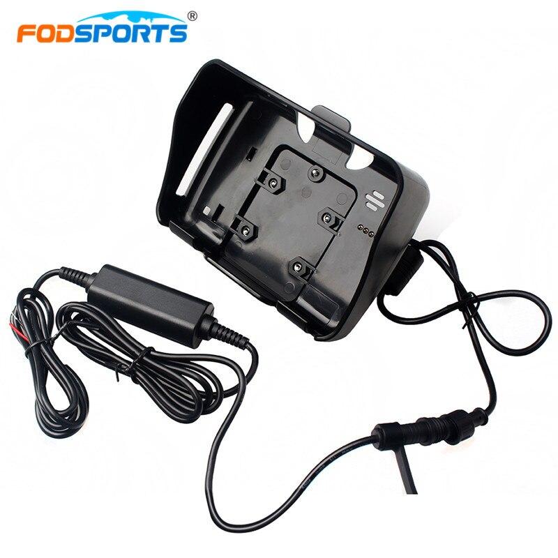 Fodsports motorrad gps zubehör 1 stücke cradle halter mit 1 stück power kabel für 4,3 zoll Motorrad GPS navigation