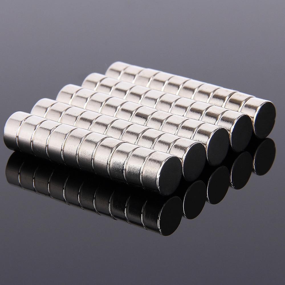 Hakkin 50pcs 10mm x 5mm Neodymium Disc 10X5 Rare Earth Strong Magnet 10*5 Craft Model Art Craft Connection Magnets 10mm*5mm
