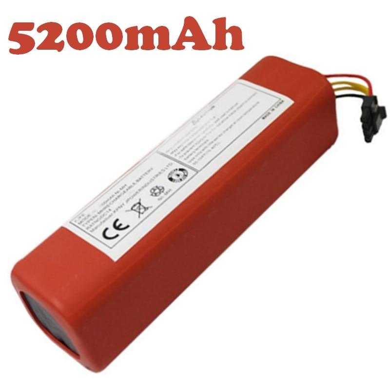 14.4 v 5200 mah Batterie pour Xiao mi Robot Aspirateur Li-ion 18650 Au Lithium mi Balayeuse Accessoires Pièces Bateria Rechargeable