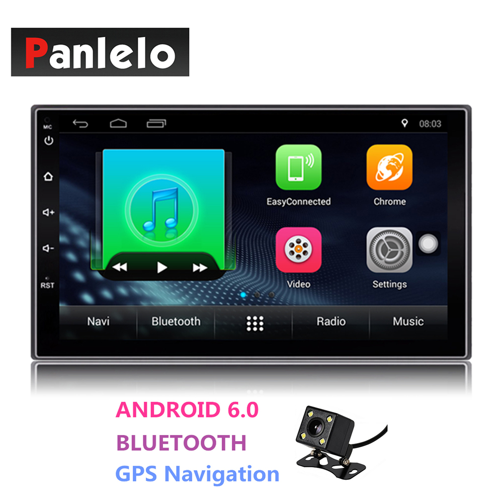 Universal Android Double 2 Din Auto Radio 7'' Touch Screen Quad Core 1GB RAM 16GB ROM Bluetooth Car Radio Stereo GPS Navigation ct0012 android 6 0 car stereo 2 din quad core head unit 7 2gb 16gb car radio touch screen bluetooth wifi fm car gps navigation