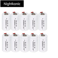 Nightkonic SC batterie 2200 mAh wiederaufladbare subc batterie ersatz 1,2 v mit tab