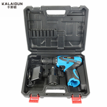 KALAIDUN 12V Electric Drill Mobile Power Tools Electric Screwdriver Lithium Battery Cordless Impact Drill With Extra Toolbox