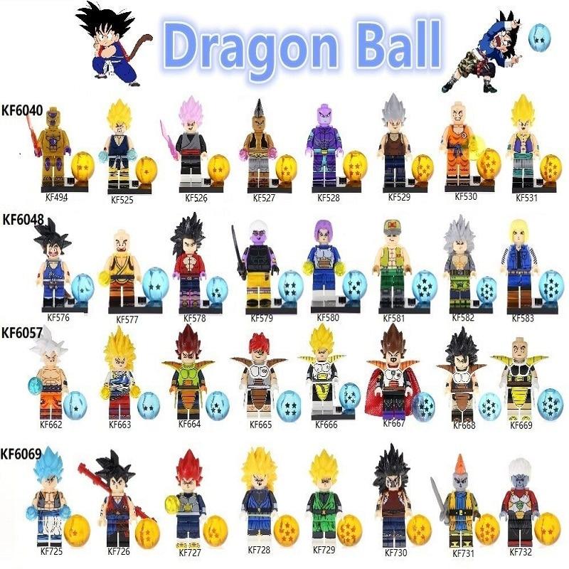 Building Blocks Bricks Dragon Ball Z Series Figures Son Goku Vegeta Recoom Raditz Krillin Model Action For Children Gift Toys
