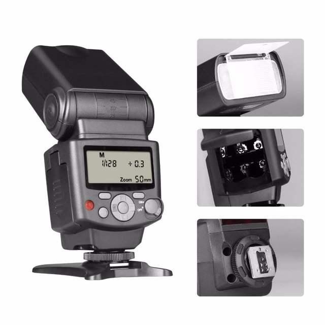 Voking VK430 E-TTL LCD Display Speedlite Shoe Mount Flash for Canon EOS 70D  77D 80D Rebel T7i T6i T6s T6 T5i T5 T4i T3i SL2