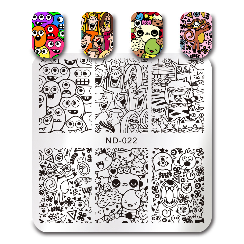 NICOLE DIARY Nail Stamping Plates Necklace Flower Animal Pattern Nail - Манікюр - фото 5