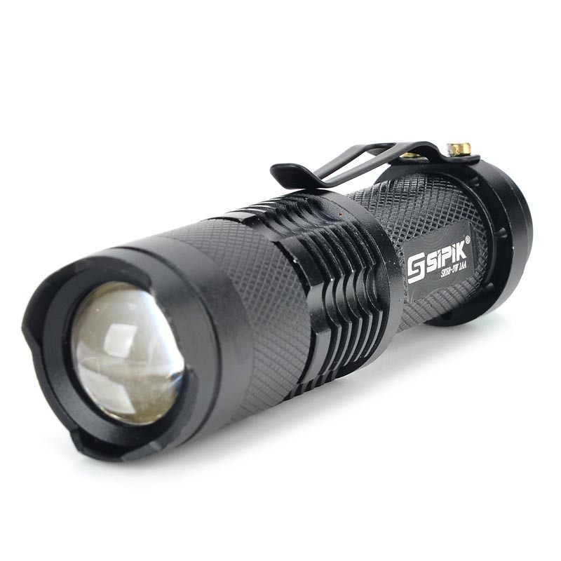 SIPIK SK68 1-Mode White Light XR-E Q5 LED Bulb Lamp Zooming Led Flashlight Pocket Mini Torch Lantern(1 X 14500/AA)