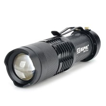 SK68 3-Mode White light XR-E Q5 LED Bulb Lamp Zooming led Flashlight Cree  Pocket mini Torch lantern(1 x 14500/AA)