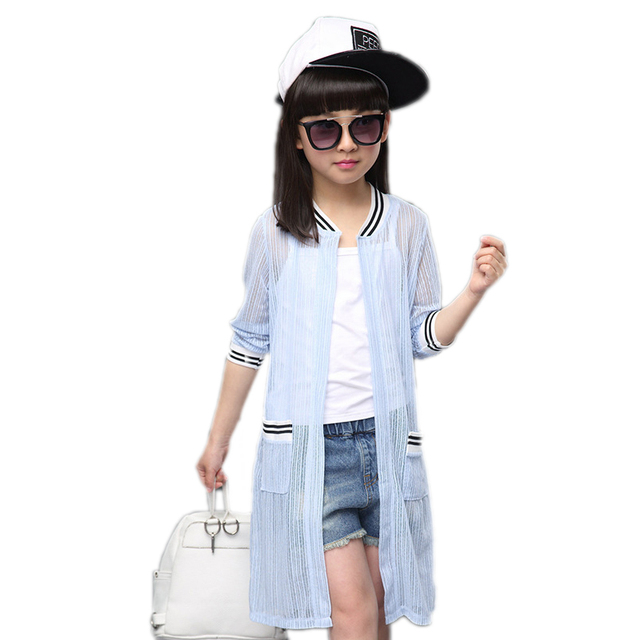 4df3b625d 2018 aircraft printed spring jacket girls summer long girl Cardigan ...
