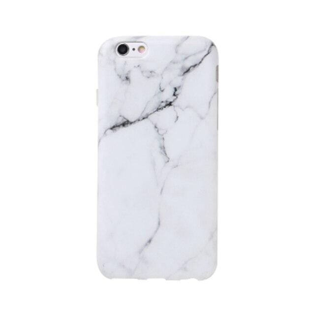 Coque de téléphone en marbre de mode pour iphone 7 7plus 6 S 6plus 6 S Plus coque Silicone coque arrière mate pour iphone 7 7plus étui en marbre
