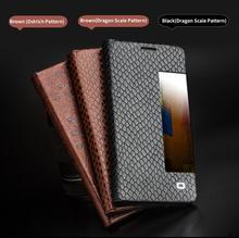 Qialino Case For Huawei Mate 9 Mate9  Luxury Genuine Leather Flip Cover Sleep Wake Function