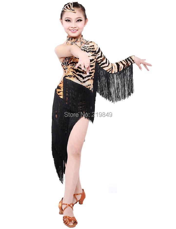 Childrens Latin Salsa Ballroom Dance Dress Girls Dancewear costumes - Online store