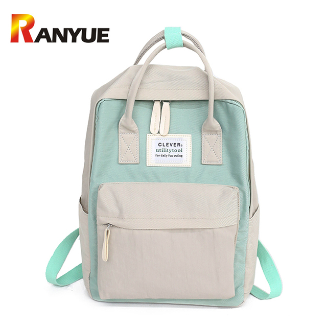 3c29a71d65 2018 Women Canvas Backpack Large School Bag For Teenager Girls Laptop Travel  Backpack Ladies Shoulder Bag Female Bookbag Mochila