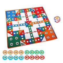 Travel Game Chess-Rug Flying-Chess Entertainment Parent-Child-Game Aeroplane Playmat