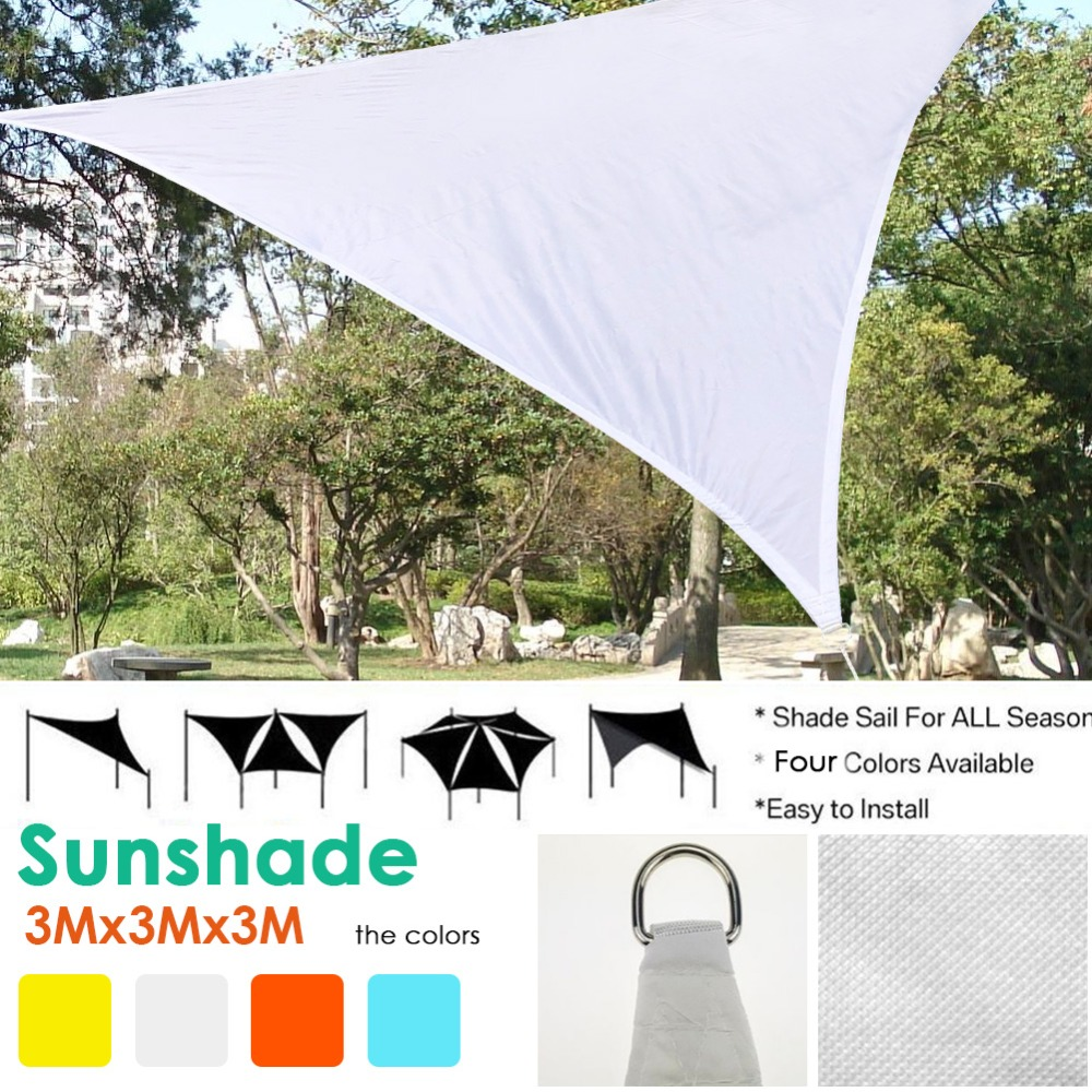 US $17 91 35% OFF|Garden Sun Shade Courtyard Shade Sails High Quality  Polyester Cloth Waterproof Shade Sails Triangular Sail Metal Buckle  Model-in