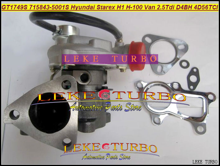 GT1749S 715843-5001S 715843-0001 715843 28200-42600 Turbo For Hyundai Starex H1 H200 H-1 light truck H-100 Van 2.5L D4BH 4D56TCI кабели межблочные аудио neotech nei 5001 1 0m