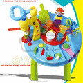 Creartive Play Dough Table with Tools Molds,Plasticine Colorful Activity World:Figure Food Animal Vegetable Noodle Hair Ice Crea