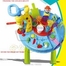Creartive Play Dough Table with Инструменты Пресс-Формы, Пластилин Красочные Деятельности Мира: Рисунок Животной Пищи Овощной Лапшой Волосы Лед Crea
