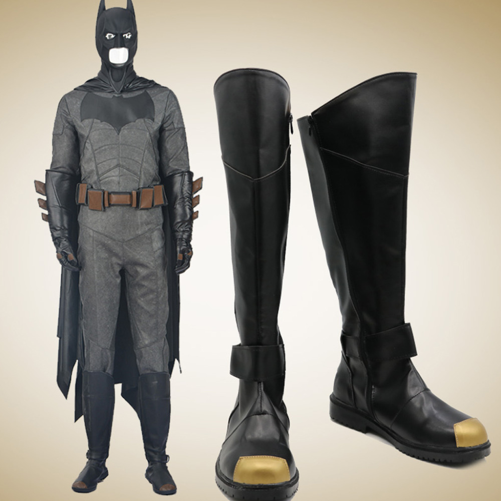 Batman Cosplay Shoes Boots Superhero Halloween Carnival Party Costume Accessories For Men