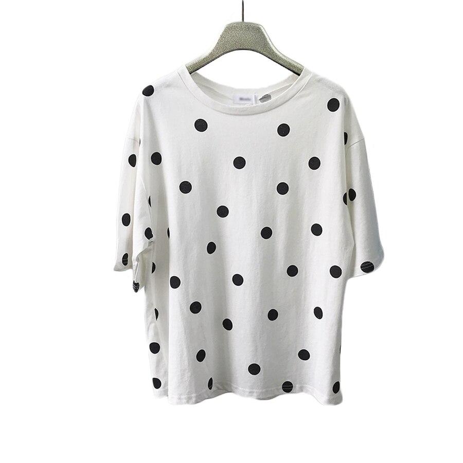 Kpop t-Shirt Harajuku t-Shirt Oversize Feminina décontracté mode coréenne vêtements à pois t-Shirt femmes Tumblr graphique t-shirts T0023E