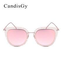 Cordón de La Vendimia Del espejo gafas de Sol de Diseñador de la Marca Sin Montura Nueva Mujeres Del Marco Del Metal gafas de Sol de Moda de Señora