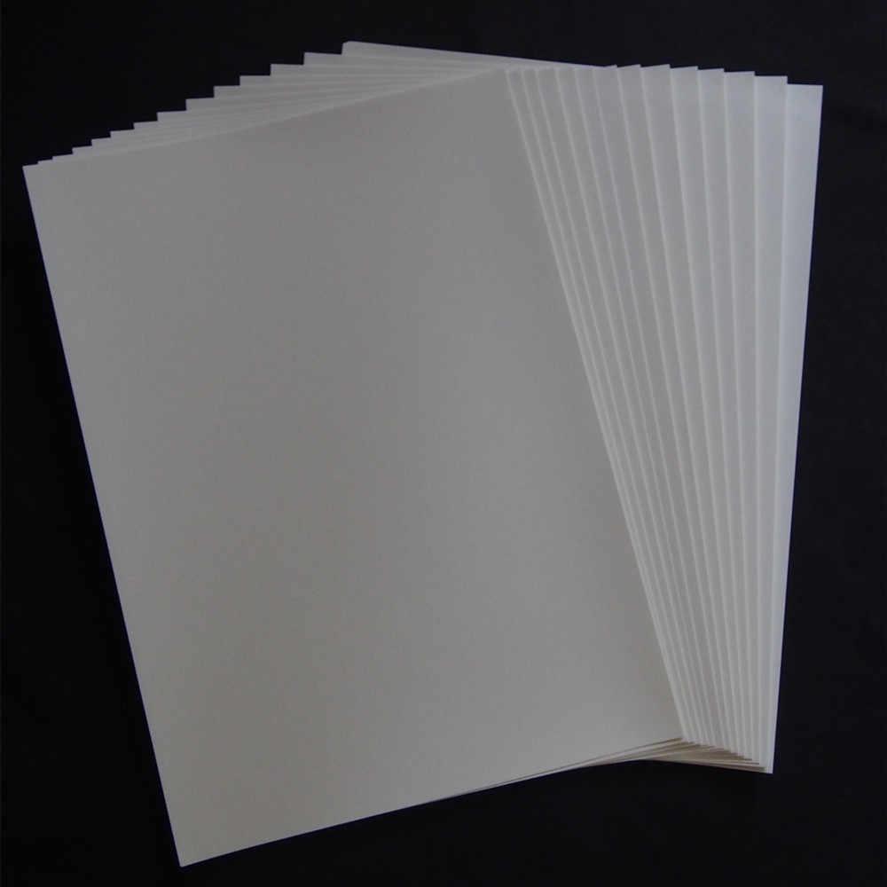 (20 pçs/lote) impressora Laser Papel Do Decalque Toboágua A4 Fundo de Cor Branca Tamanho 210*297 milímetros (8.3*11.7 polegada) não há Necessidade de Pulverização/Verniz