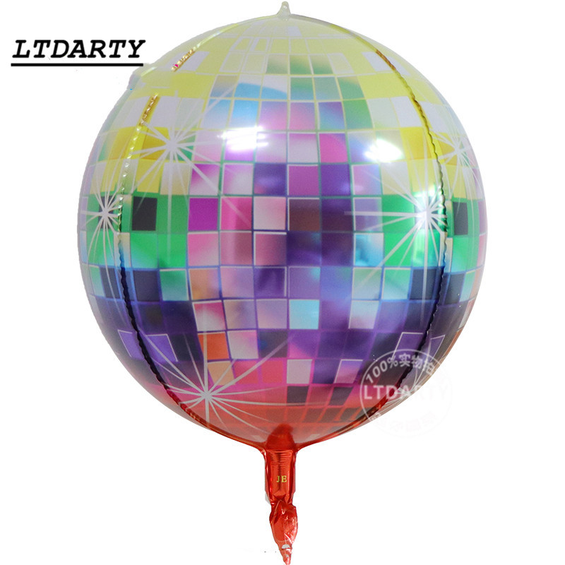 Image 5 - 20pcs 22 inch 4D Disco Helium Balloon Color Air Ball For Birthday &Wedding Party Baby Shower Supplies Decorative Balloons-in Ballons & Accessories from Home & Garden