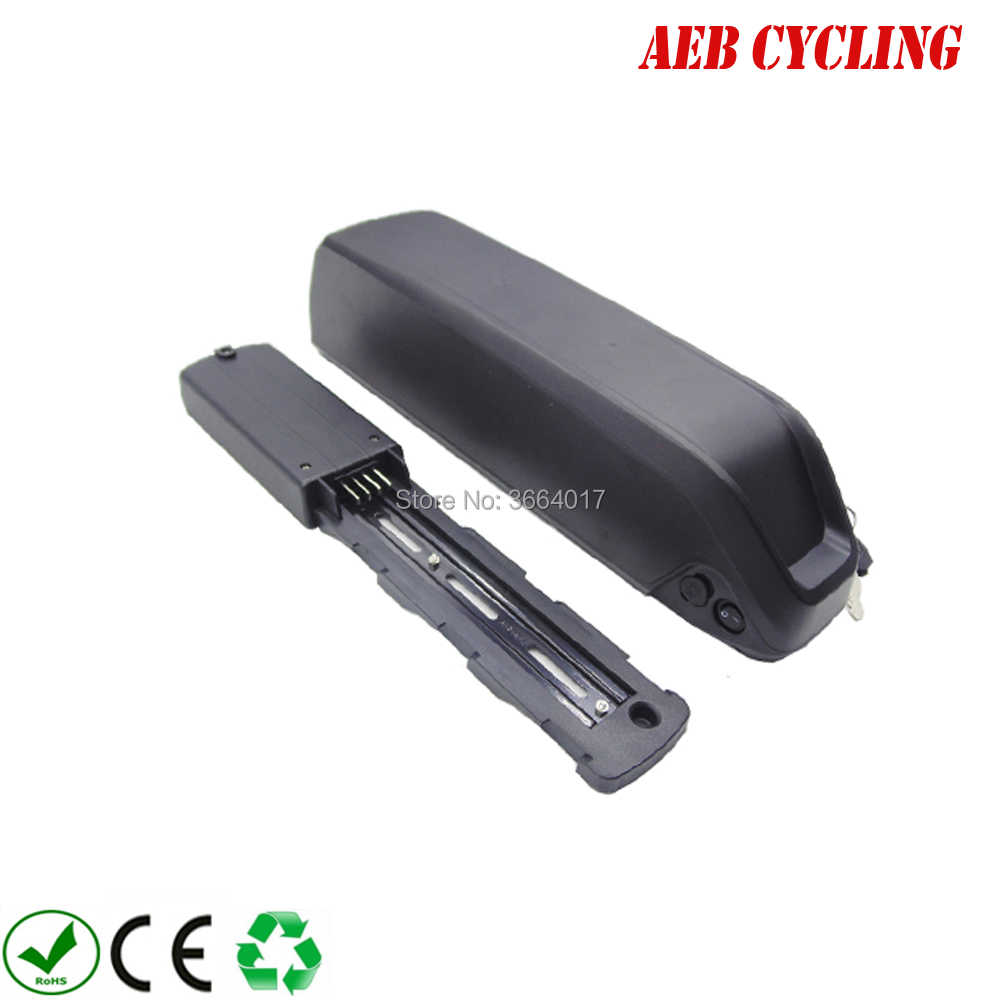 Free Shipping Rechargeable 24V 36V 48V 52V shark down tube Electric bike battery 10Ah 11.6Ah 12.8Ah 13.2Ah 14Ah 15Ah 16Ah 20Ah