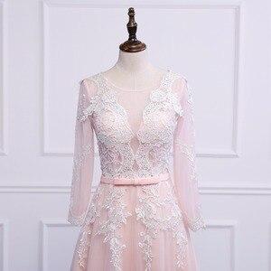 Image 5 - נובל וייס Robe דה Soiree אפליקציות סקסי ארוך ערב שמלות הכלה משתה אלגנטי משפט רכבת תפור לפי מידה לנשף שמלה